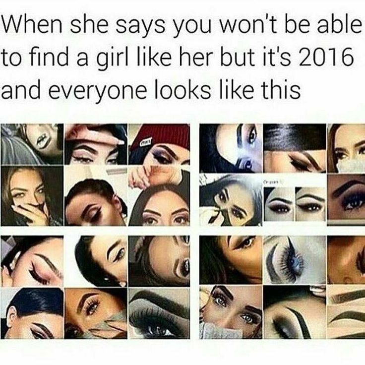 True. Every single girl wears this style of makeup and it makes them look like a clown!