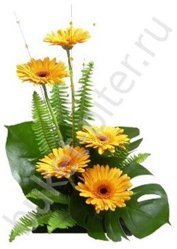 Купить Композиция с герберами, СПБ - Доставка цветов в Санкт-Петербурге, круглосуточный интернет-магазин 24 часа - Букет-СПБ