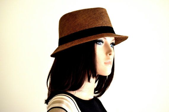 Classic Brown Fedora Hat (Unisex) - Fedora Hats for Women, Sun Hats for Women, Straw Hats, Fedora Hats for men, Womens Fedora Hats
