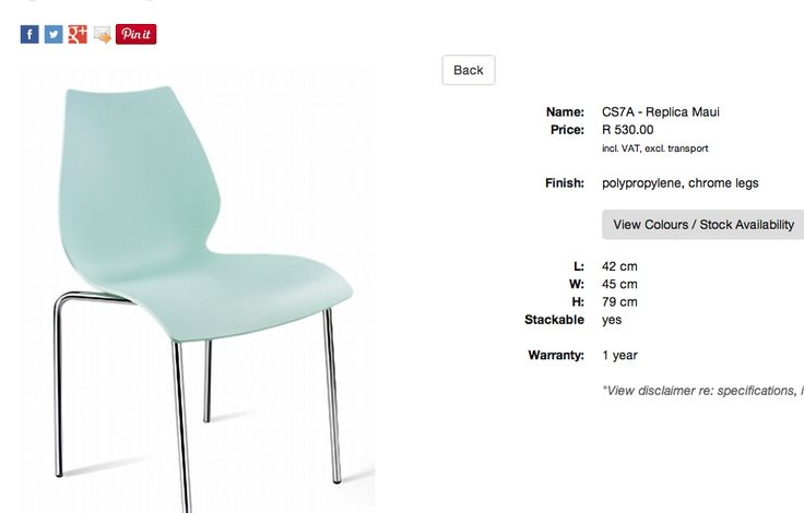 Chairs for the canteen or for meetings room