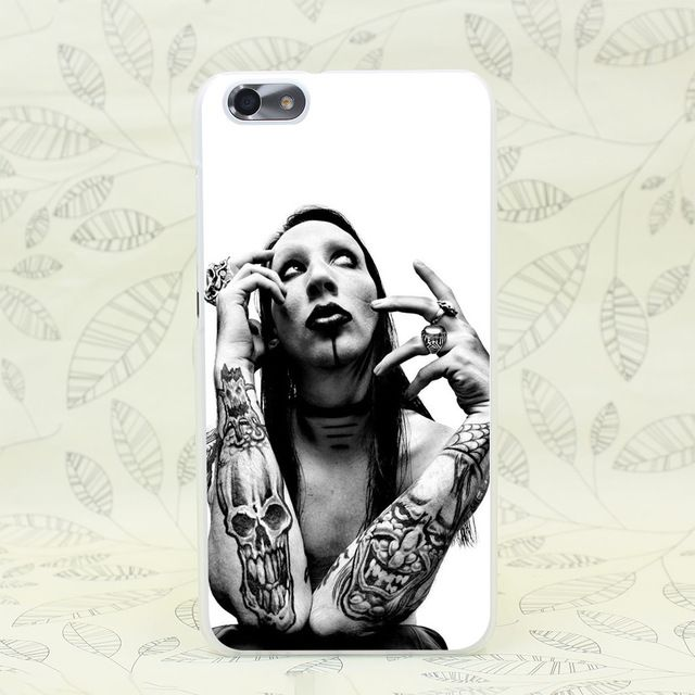 607F Marilyn Manson Arm Tattoos Hard Transparent Case Cover for Huawei P6 P7 P8 P9 Lite Plus & Honor 6 7 4C 4X G7