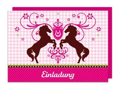 Einladungs Set Pferde bei www.party-princess.de