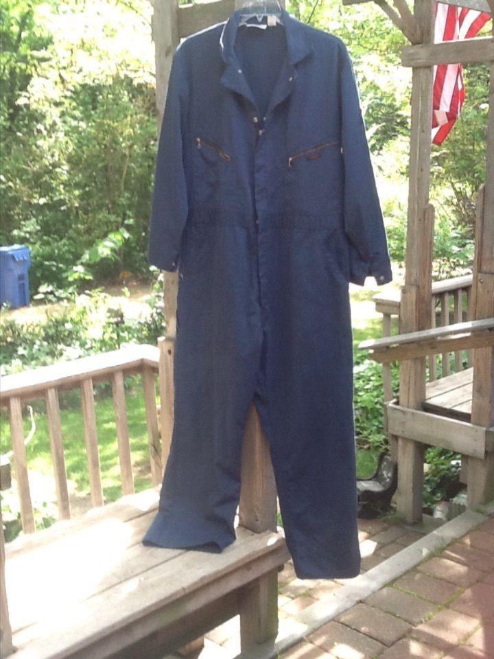 Mens DICKIES COVERALL dark blue heavy duty size 46 medium #Dickies