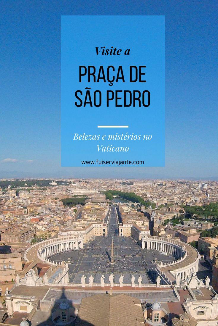 A Praça de São Pedro, no Vaticano, é uma obra magnífica cheia de belezas e mistérios. Venha passear por seus segredos! É uma parada obrigatória para quem vai a Roma e ao Vaticano. Uma das praças mais lindas da Itália!