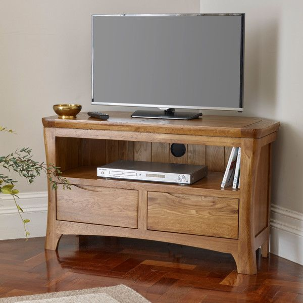 detailed look 55004 09d1d Rustic Solid Oak TV Cabinets - Corner TV Unit - Orrick Range ...