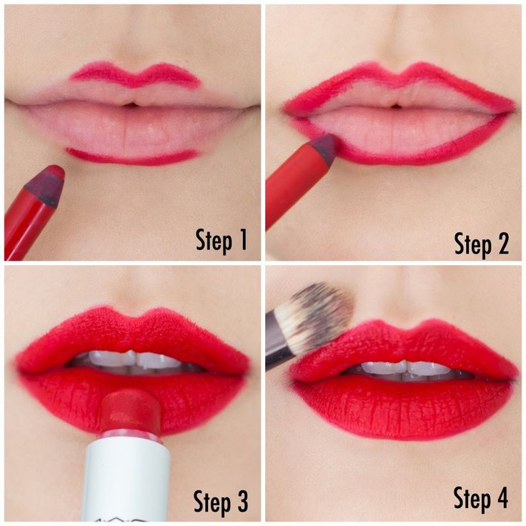como passar batom vermelho / how to apply red lipstick