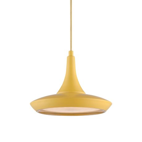Lighten things up with this playful, modern pendant lamp. In the day, it brightens your style in your choice of seven bold colors. At night, keep the party going under its energy-efficient LED bulb.  Find the Genio Pendant Lamp, as seen in the Forms of Neo-futurism Collection at http://dotandbo.com/collections/forms-of-neo-futurism?utm_source=pinterest&utm_medium=organic&db_sku=104367