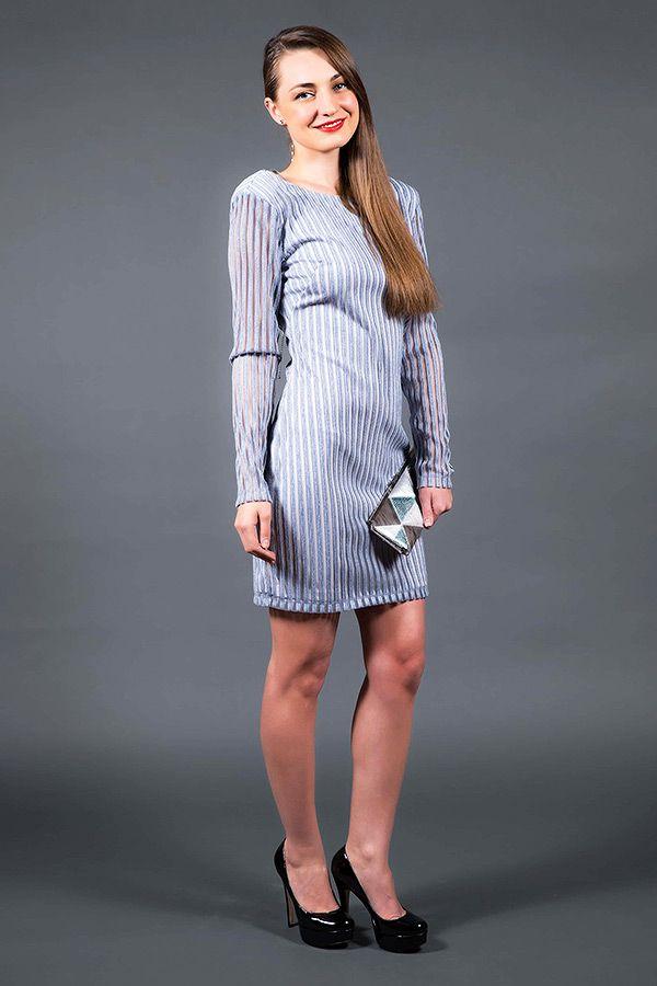Shimmery Mini Open Back Dress