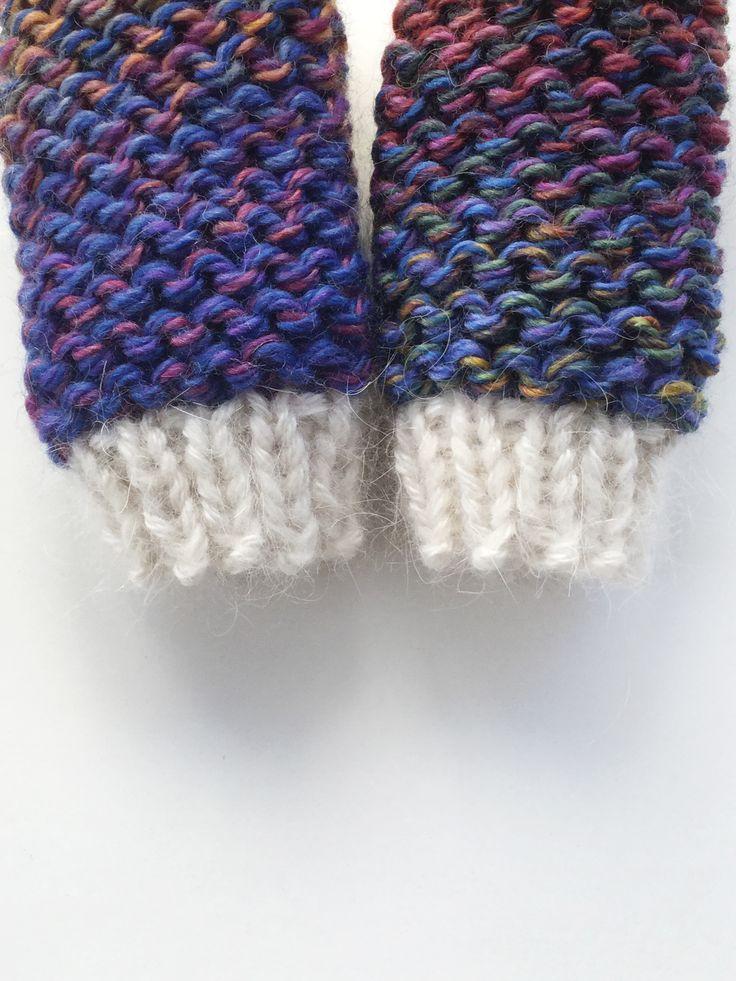 Lawina Baby mittens. 0-12 months. Very soft, luxury yarn: merino 40%, alpaca 26%, angora 25%, silk 9% http://lawinaknit.com/