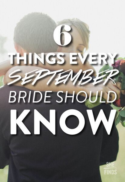 6 things every September bride should know