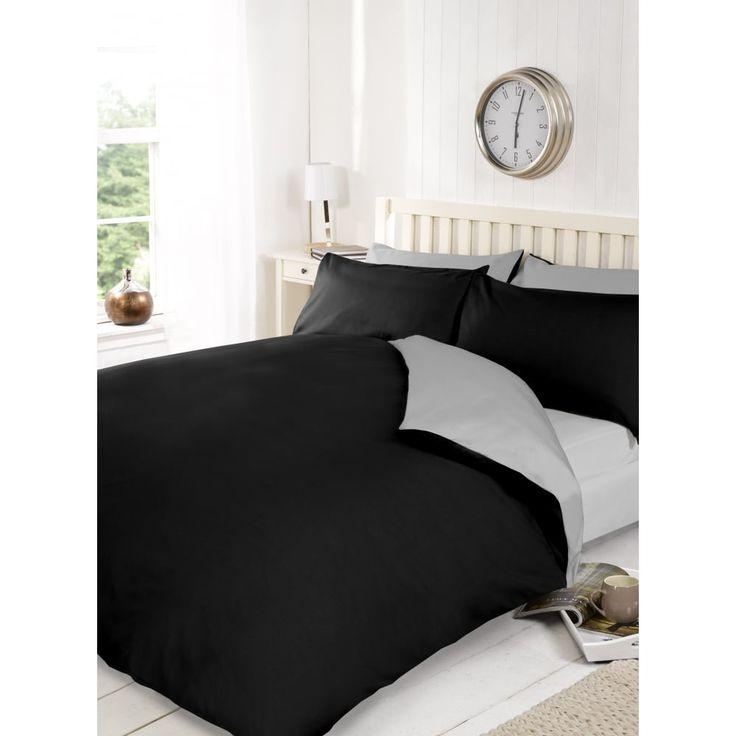 Reversible Black & Grey Duvet Cover
