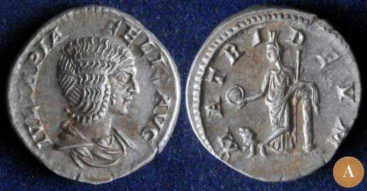 Римская империя, Юлия Домна, жена Септимия Севера, денарий. | ANDREY PYATYGIN ANCIENT COINS | Магазины | Антикварус
