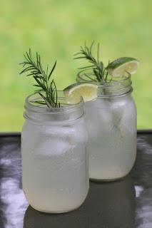 sparkling rosemary lime cocktail | Total Lush | Pinterest