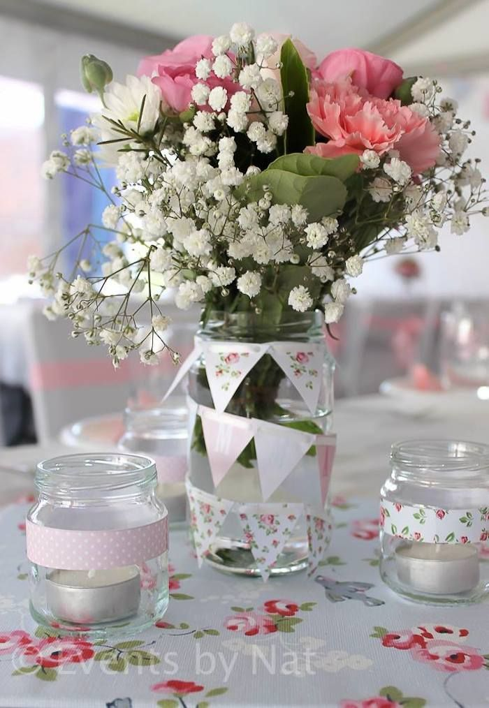 Shabby Chic First Birthday Party with Lots of REALLY CUTE IDEAS via Kara's Party Ideas  #shabbychic #PartyIdeas party food drink ideas #summer