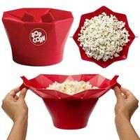 Wish | 1 Pcs Silicone Microwave Magic Popcorn Maker Popcorn Container Healthy Cooking Kitchen Accessories