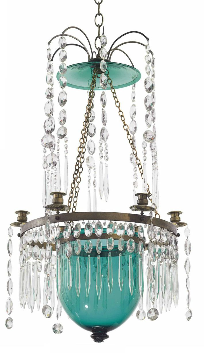 1055 best lighting and chandeliers images on pinterest chandeliers a russian brass mounted green and colorless cut glass six light chandelier late arubaitofo Image collections
