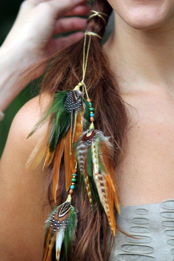 Feder Haarschmuck, Festival Haarschmuck, Boho Hippie Stirnband, Haarband, Feder …