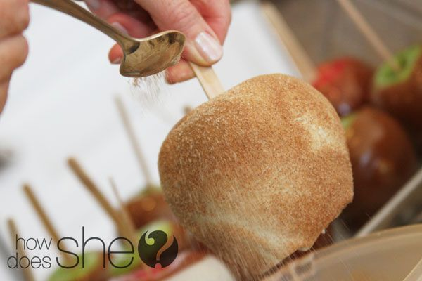 how to make maple dipped apple