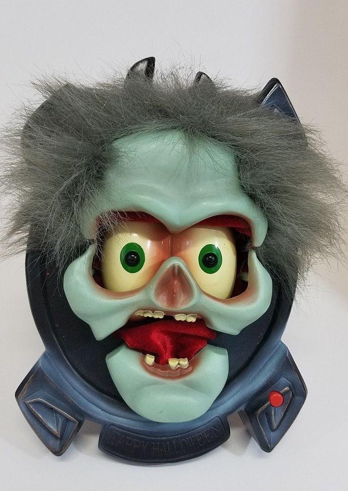 VTG Gemmy Halloween Screamer Greeter Table Hanging Lighted