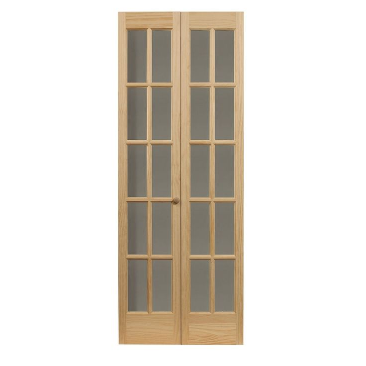 Awc Traditional Divided Light Glass 32 X 80 5 Bifold Door Walmart Com Glass Bifold Doors Bifold Doors Interior Barn Doors