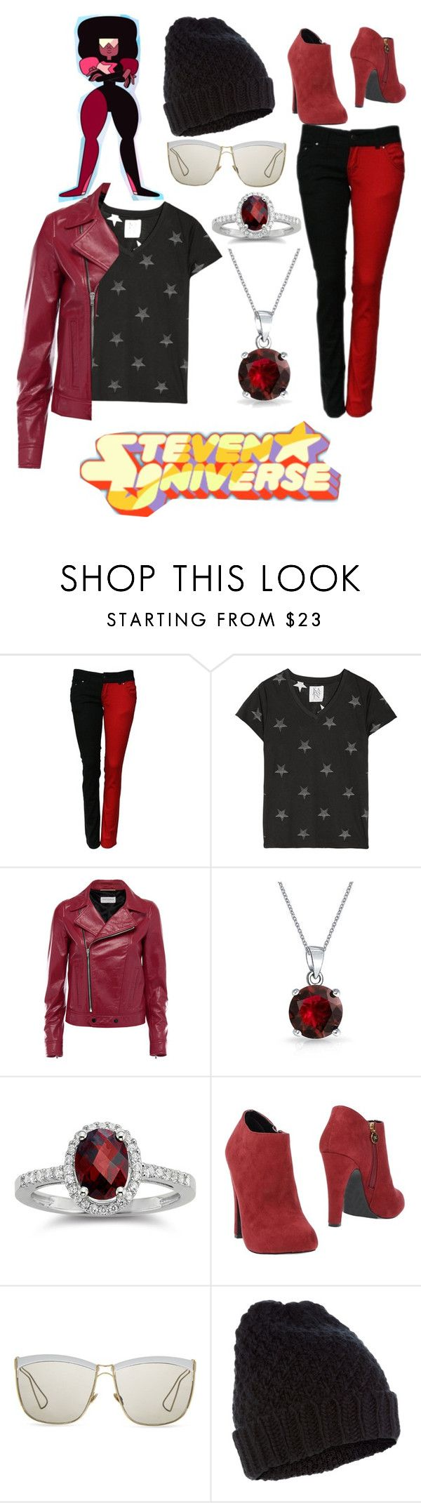 """Garnet from steven universe"" by gabbygainer ❤ liked on Polyvore featuring Zoe Karssen, Yves Saint Laurent, Bling Jewelry, PrimaDonna, Christian Dior, Accessorize, women's clothing, women, female and woman"