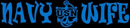 Navy Wife Decal - US Navy USN Wife United States Navy Decal   LilBitOLove - Print on ArtFire