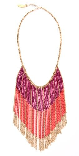 Soo Ihn Kim Dominic Ombre Chain NecklaceChains Necklace I, Colors Block, Necklaces Late, Nails Polish, Chains Necklaces, Ihn, Dominic Ombre, Fringes, Block Chains