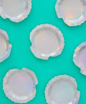 Shell Party Plates in 2019 | Mermaid Party, plates, parties