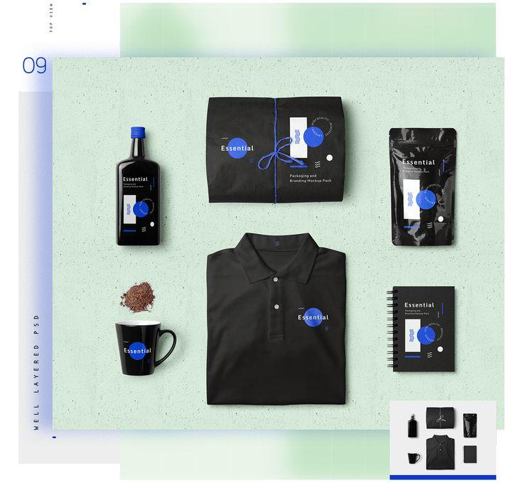 Flatlay Brand Essential Mockup Pack