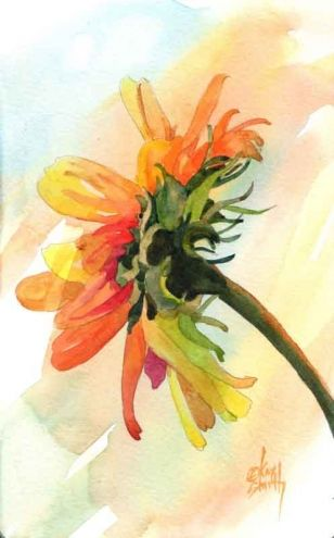 Sunday Sunflower, painting by artist Kay Smith