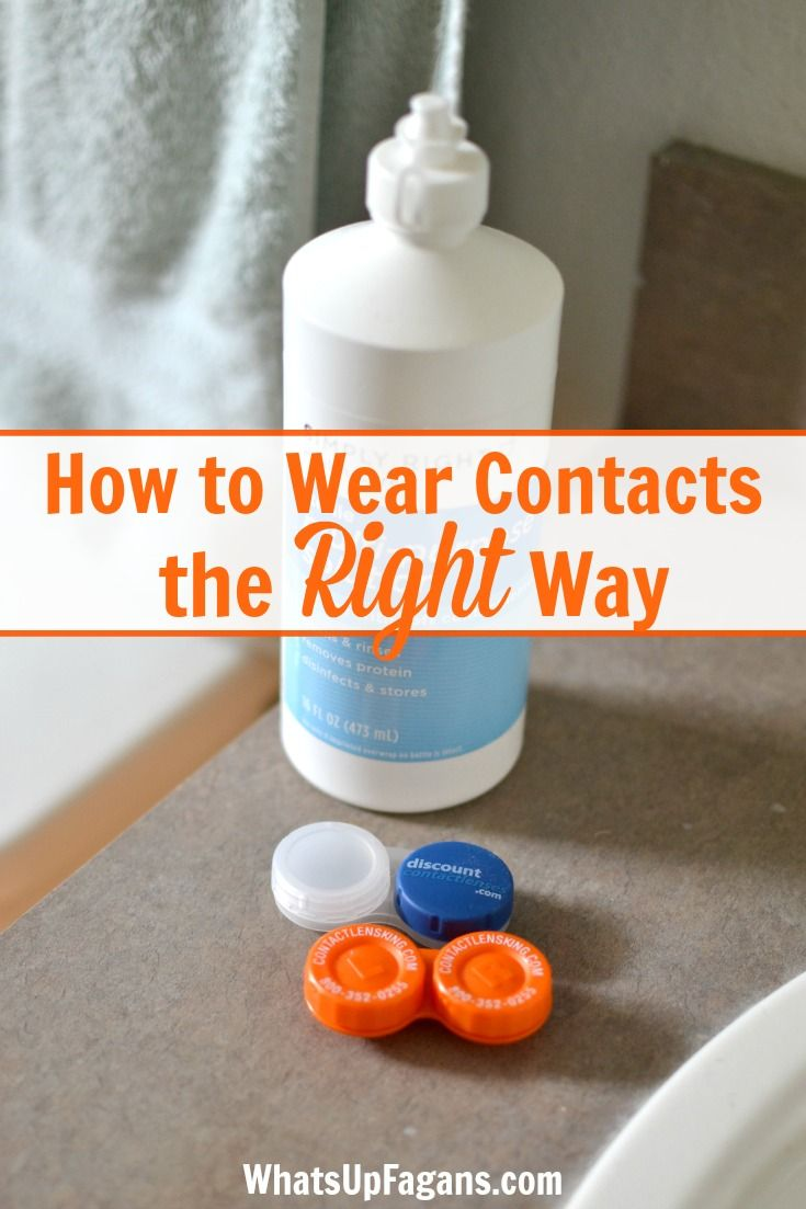 how to deep clean contact lenses