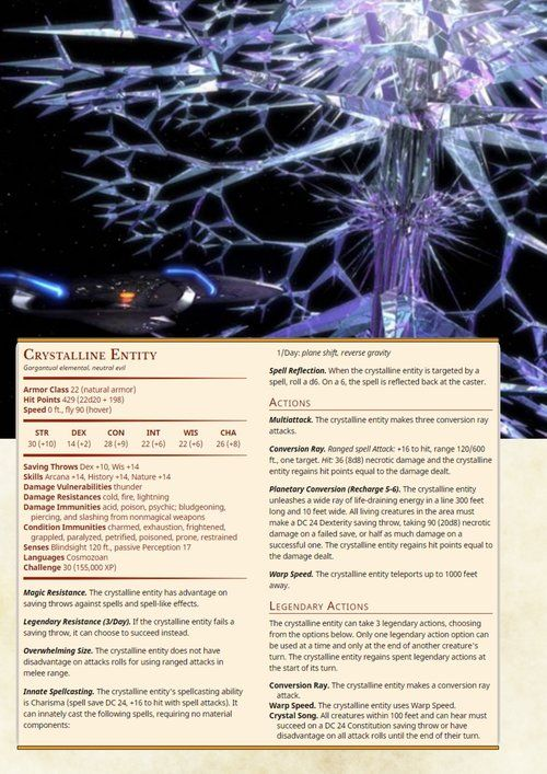 Crystalline Entity | Dnd Homebrew Monsters in 2019 | Dnd
