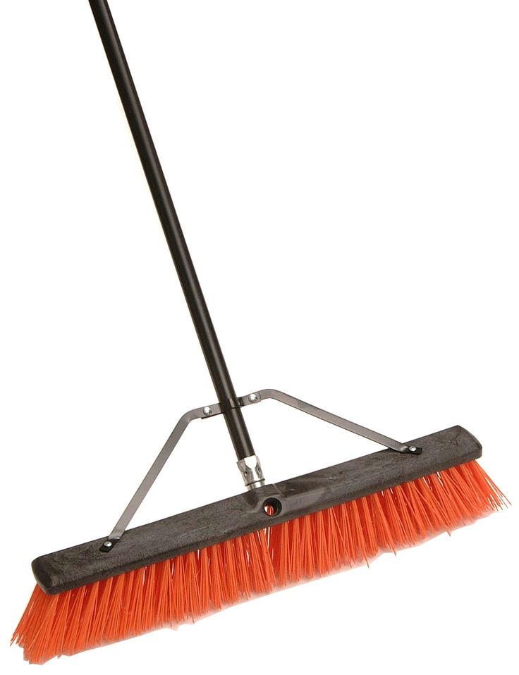 "24"" Assembled Indoor and Outdoor Push Broom"