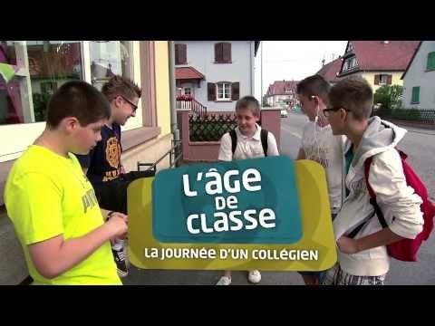 Vidéo 10'31 (français) - L'âge de classe : la journée d'un collégien - https://www.youtube.com/watch?v=jqwKZdnOBjo#t=41