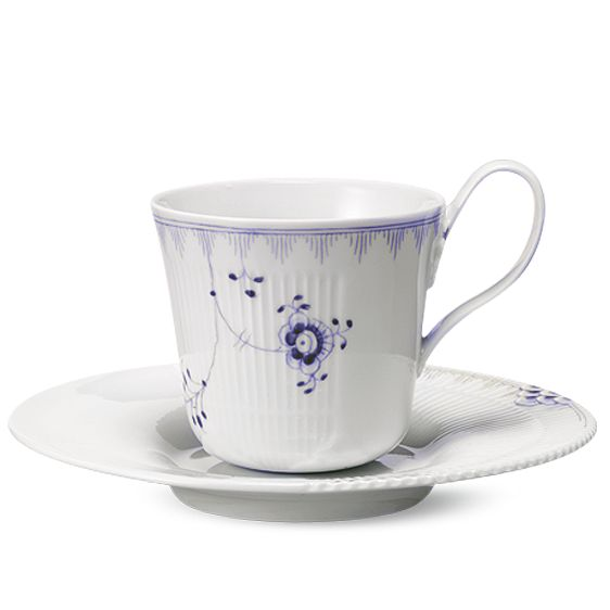Royal Copenhagen Multicoloured Elements High handle cup & saucer 25 cl - River