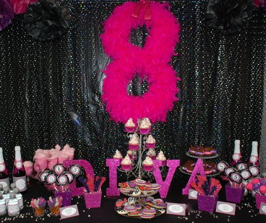 Diva Party Decorations | Diva birthday party | Party Ideas