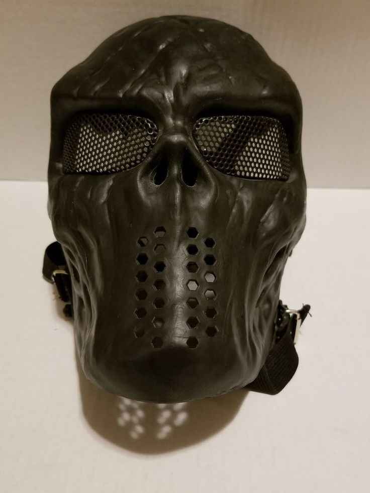Airsoft Paintball Tactical Full Face Mask Combat Skull Game Protect Black God #Unbranded #tacticallooking