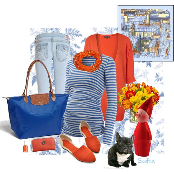 """""""Maternity blue and orange"""" by soofiia on Polyvore - premaman"""