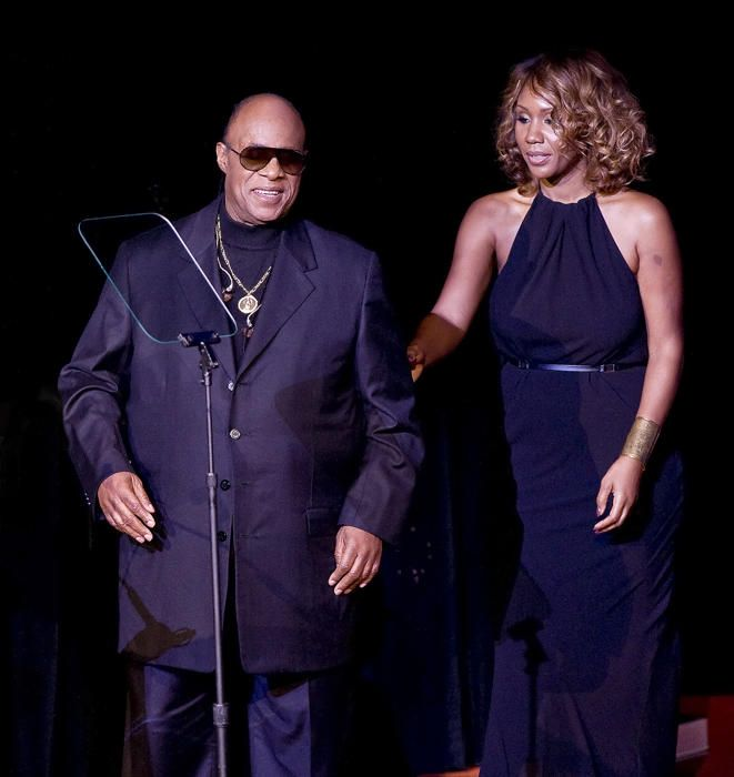 Stevie Wonder has even more to sing about! The 64-year-old musician welcomed his ninth child, a baby girl named Nia, with girlfriend Tomeeka Robyn Bracy in December. His rep confirmed the birth as well as the meaning of Nia's name: purpose, which is one of the principles of Kwanzaa.