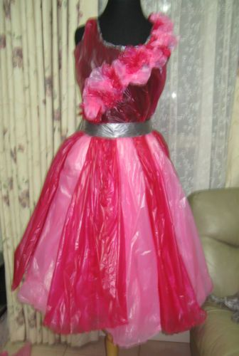 Garbage bag dress - great for a recycle party or to promote recycling in the community