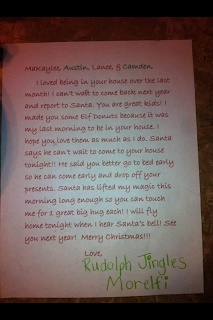 Elf Goodbye Letter. Christmas Eve Morning