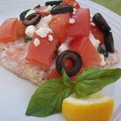 Greek style baked salmon @ allrecipes.co.uk