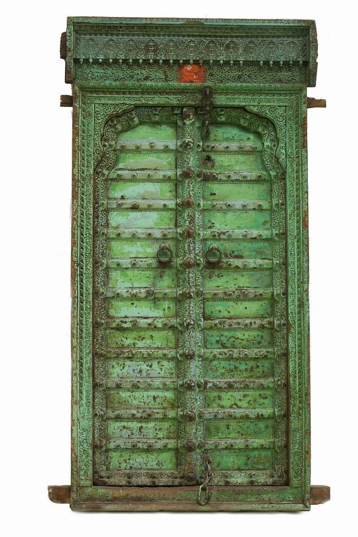 Indian Door Genuine Original Pressed Metal Over Wood. | eBay