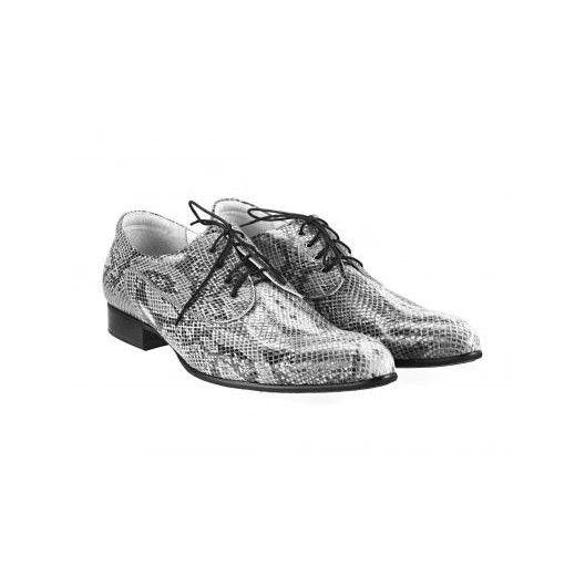 Pánske kožené extravagantné topánky sivé PT029 - manozo.hu