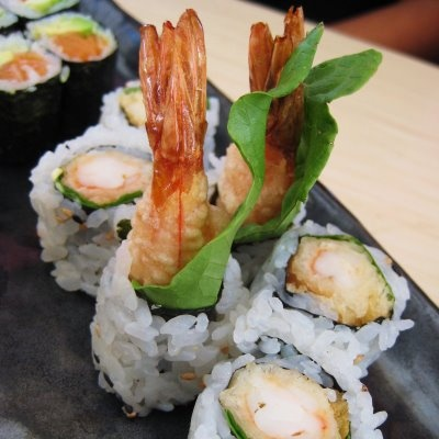 Shrimp Tempura roll. Probably the only sushi I will eat. Not California rolls. Not deep fried shrimp. Definitely not sashimi. They taste good wrapped with sweet potato. Shout out to Mikimoto's Super Crunchy roll (not pictured).