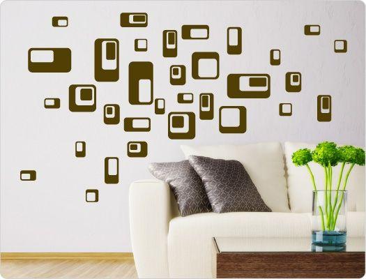 24 besten Wandsticker Retro Look Bilder auf Pinterest Retro-look - wandtattoo wohnzimmer retro