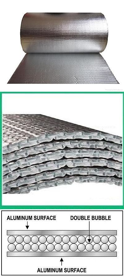 materials: 48 X 125 X 1/4 Double Bubble Reflective Foil Insulation -> BUY IT NOW ONLY: $99.99 on eBay!