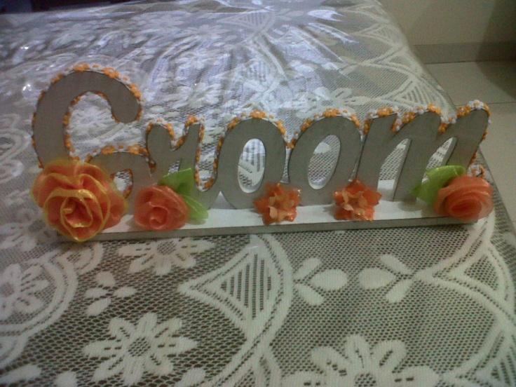 groom - wood letter