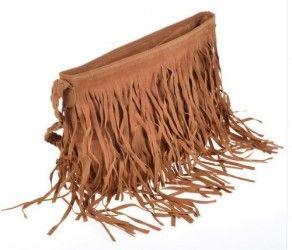 THG Camel Fringe Tassel Shoulder Messenger Stylish Women Girl Handbag Bags