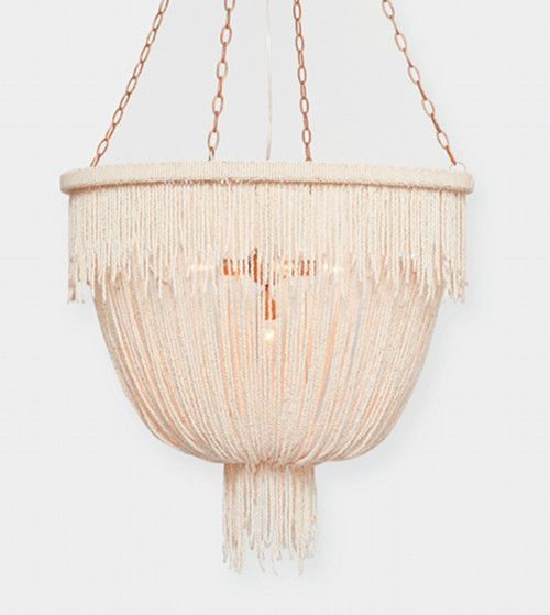 A totally unpretentious and beautiful chandelier by Make Goods via Design Sponge